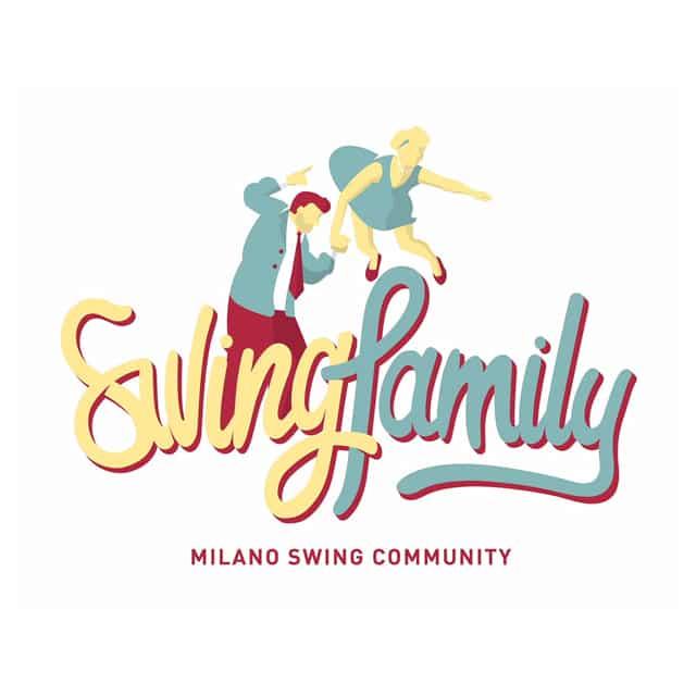 Logo di Swing Family. Corsi Swing Milano Swing Family. Scuole di Ballo Lindy Hop Milano. Swing Fever