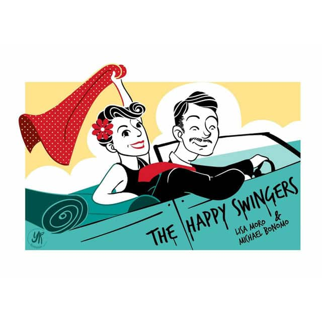 Logo di The Happy Swingers. Lindy Hop Bologna - The Happy Swingers - Scuole di ballo Swing - Swing Fever