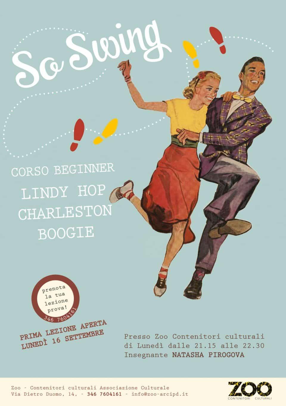 Logo di So Swing. Lindy Hop Padova. So Swing. Corsi Swing Padova - Swing Fever